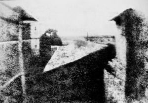 Joseph-Nicéphore Niépce (1765-1833), Punto de vista desde su ventana en Gras, 1828